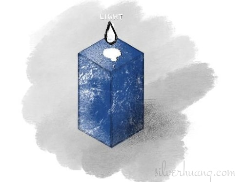 Another screenshot of a page from Silver's digital sketching journal, featuring a visual and metaphoric representation of Silver's therapeutic process. There is a rectangular box of lapis lazuli standing upright against a pastel grey background. There is a single, large drop of white liquid suspended in the air above the top of the box, with a white splash mark on the top of the box, showing that white liquid has already splashed there before from above.